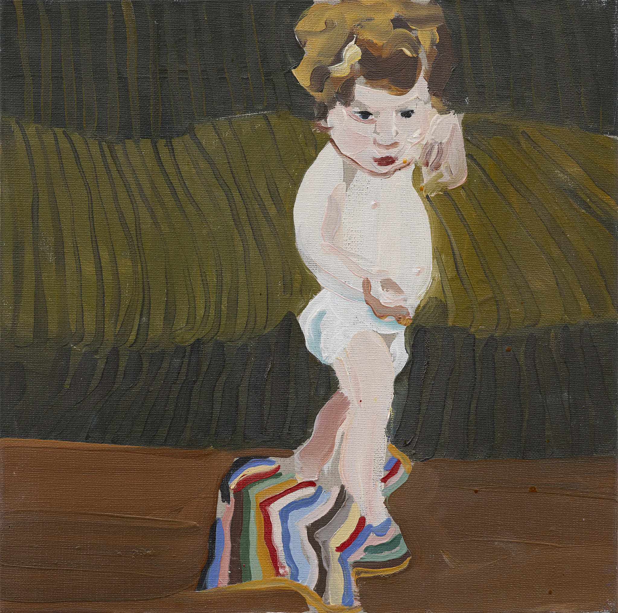 Esme with a Striped Blanket, 2008