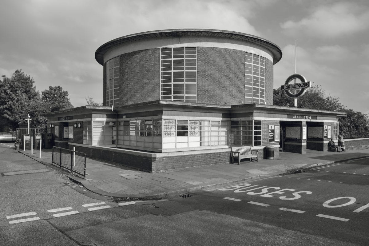 Metro Station Arnos Grove, London, UK, 1932