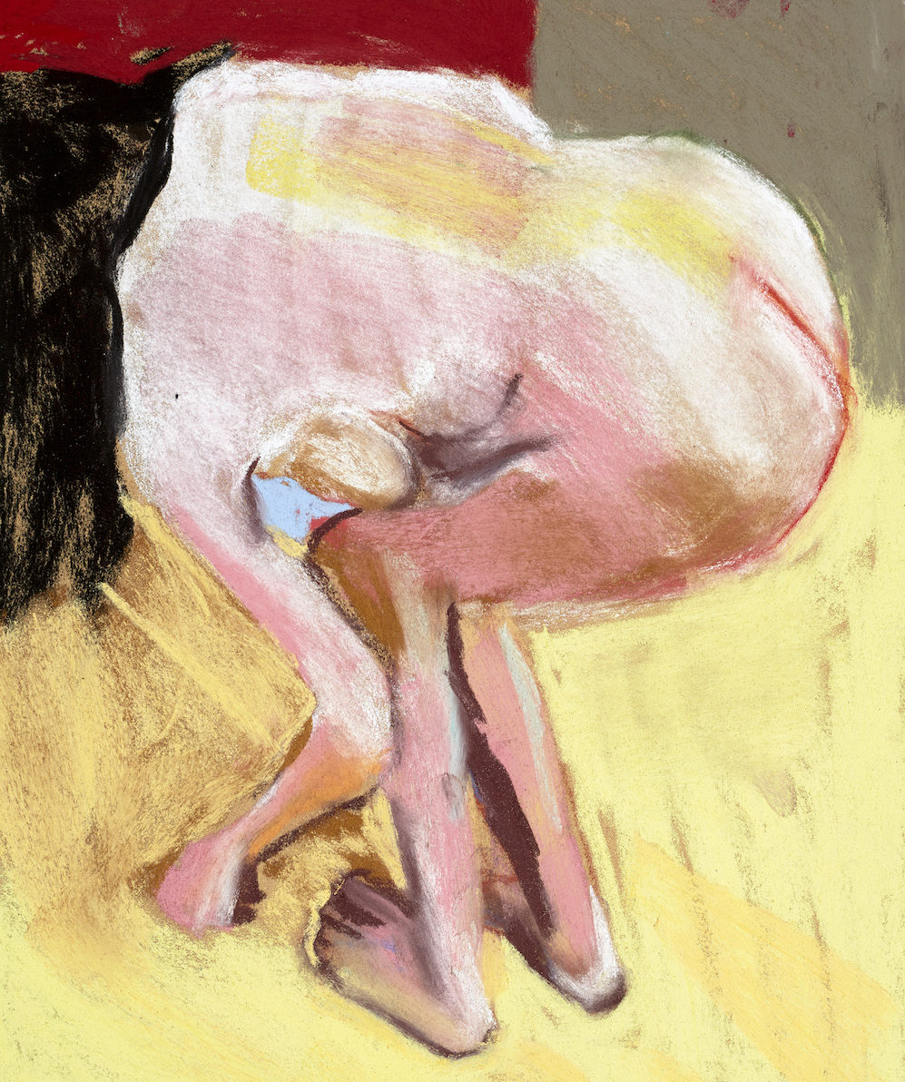 Self Portrait Bending Over, 2015 Chantal Joffe