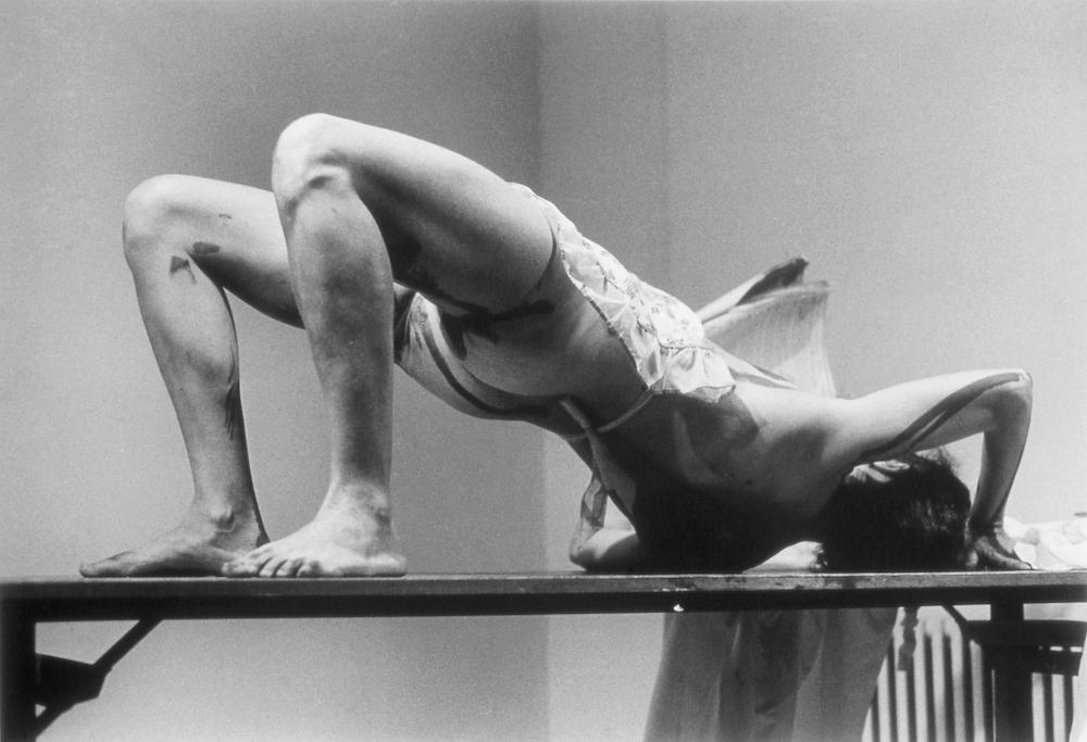 Carolee Schneemann, Interior Scroll performance - photo 4, 1975. Photo by Anthony McCall. Courtesy of C Schneemann.