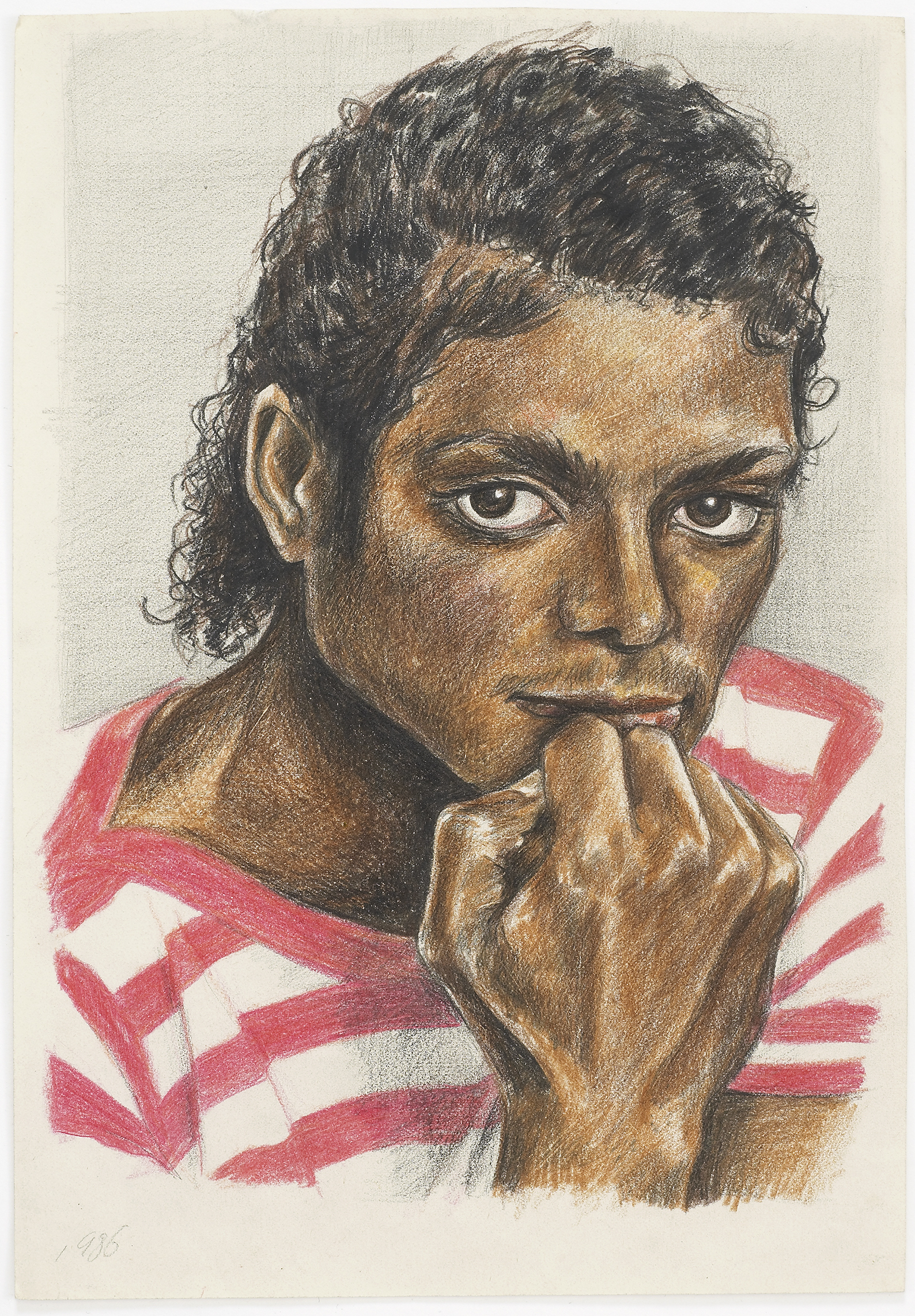 Dawn Mellor, Michael Jackson (36). Courtesy of the artist, Studio Voltaire and Koenig Books