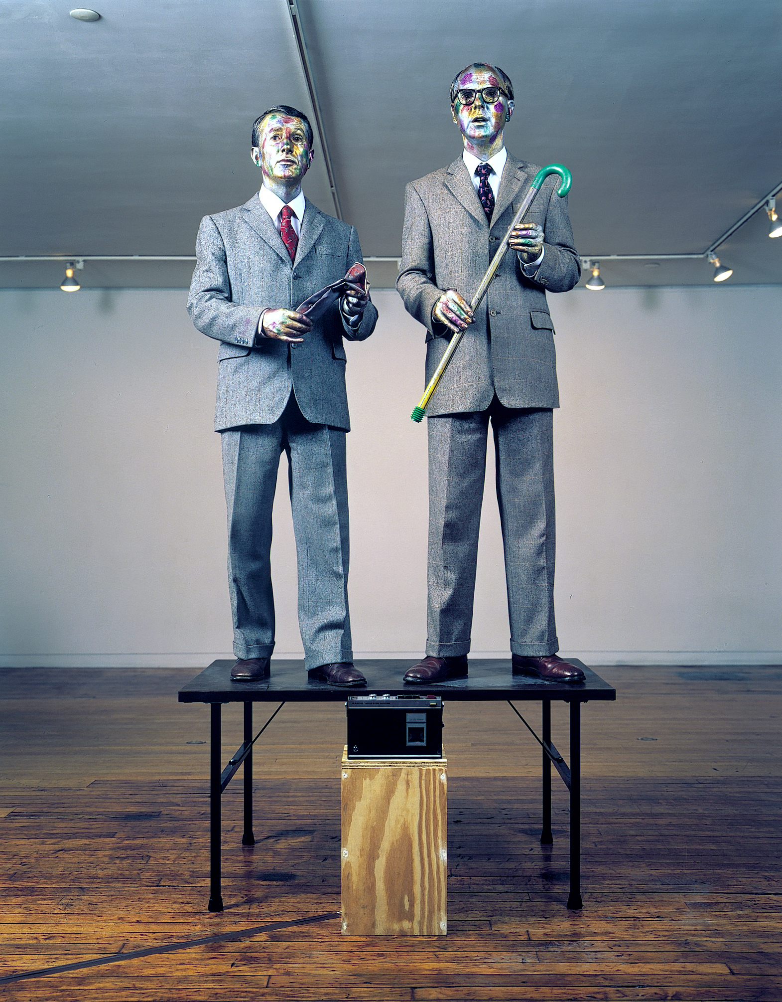 Gilbert & George: The Singing Sculpture, 1992