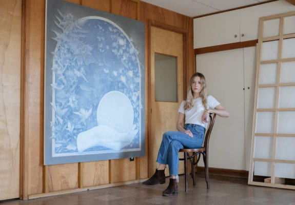 Theodora Allen's studio, photography by Max Knight