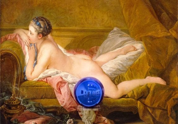 Gazing Ball (Boucher Reclining Girl) (2014–15), Jeff Koons. © Jeff Koons – Courtesy of the artist and Almine Rech Gallery