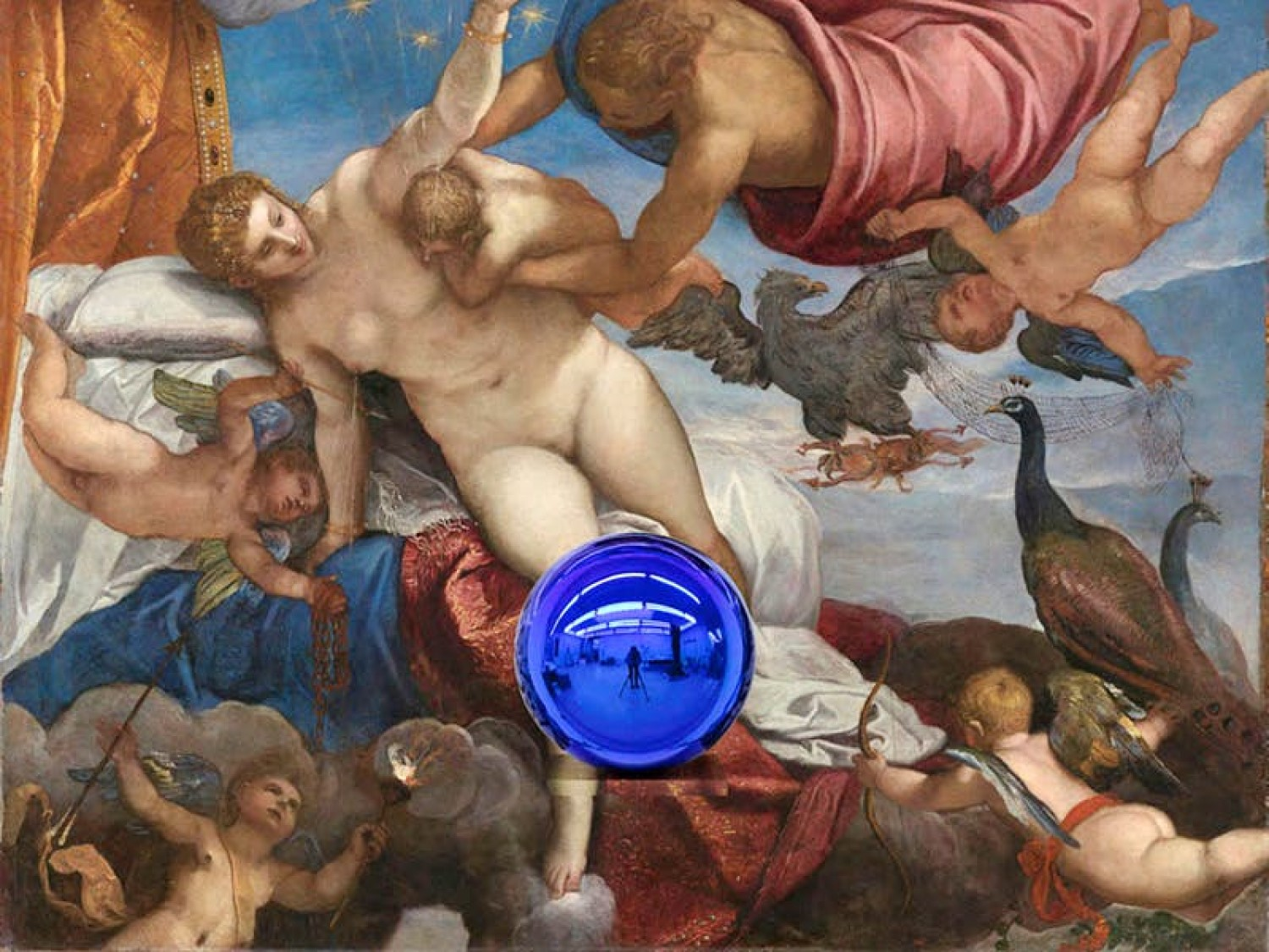 Gazing Ball (Tintoretto The Origin of the Milky Way) (2016), Jeff Koons. © Jeff Koons - Courtesy of the artist and Almine Rech Gallery