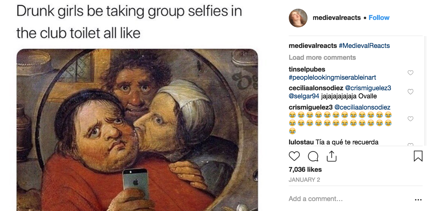 Medieval Reacts Instagram screenshot