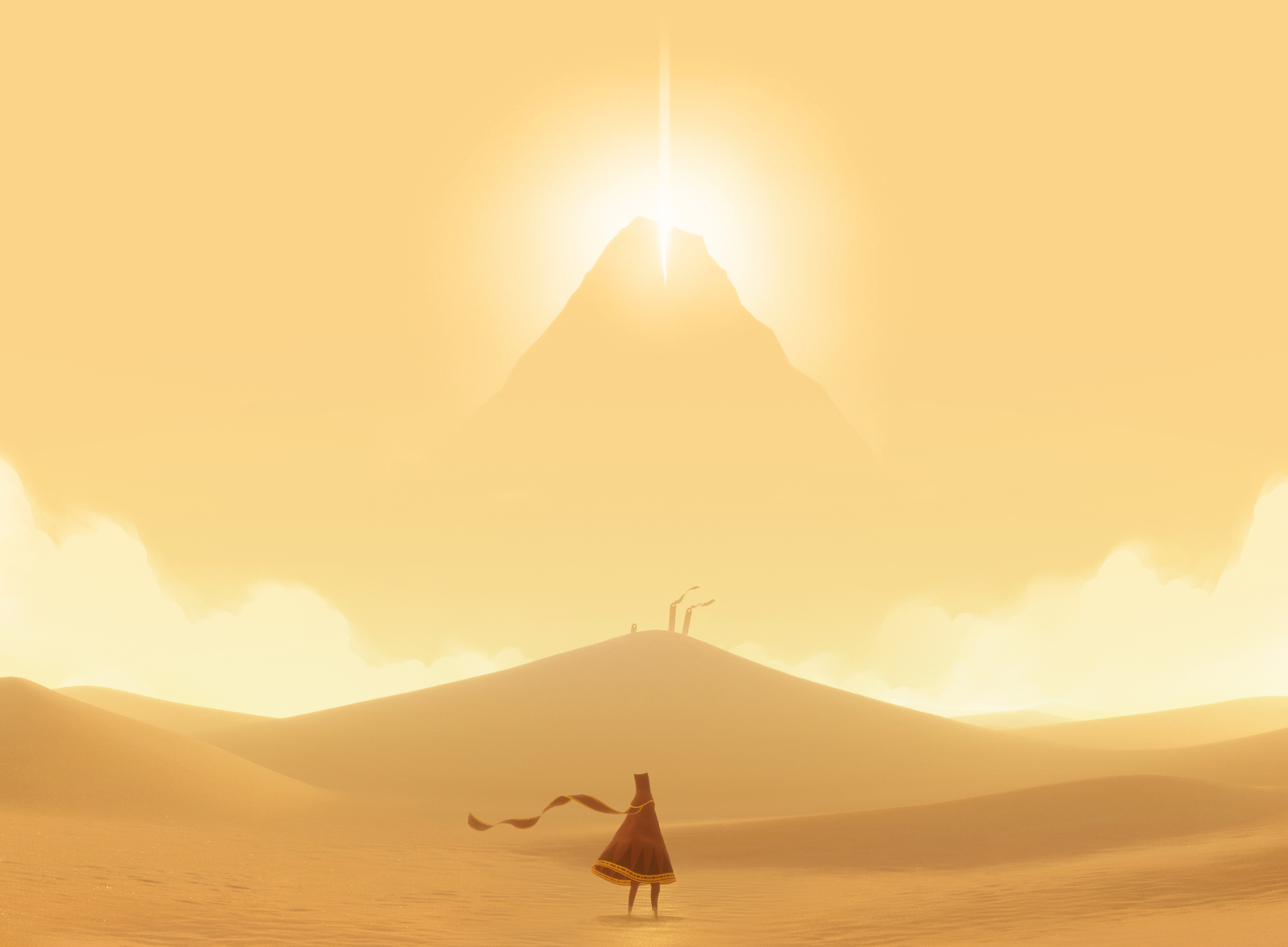 Screenshot, JourneyTM © 2012, 2014 Sony Interactive Entertainment LLC. Journey is a trademark of Sony Interactive Entertainment LLC. Developed by Thatgamecompany