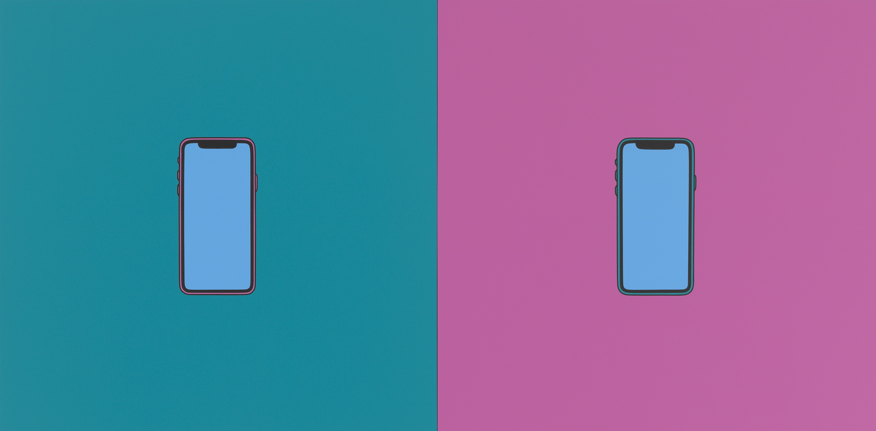 Double Take (iPhone), 2018, © Michael Craig-Martin Courtesy of the artist and Gagosian Photo: Mike Bruce