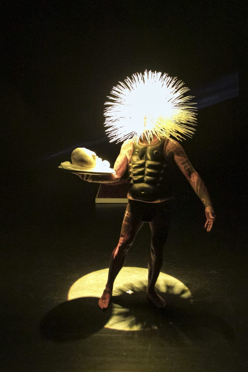 Ron Athey Acephalous Monster, Performance Space New York. Photograph by Rachel Papo.