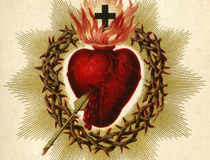 Catholic holy card depicting the Sacred Heart of Jesus, ca. 1880. Auguste Martin collection, University of Dayton Libraries. Credit: 'Turgis', via Wikimedia Commons