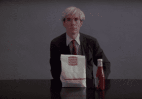 Still from the Andy Warhol Burger King ad