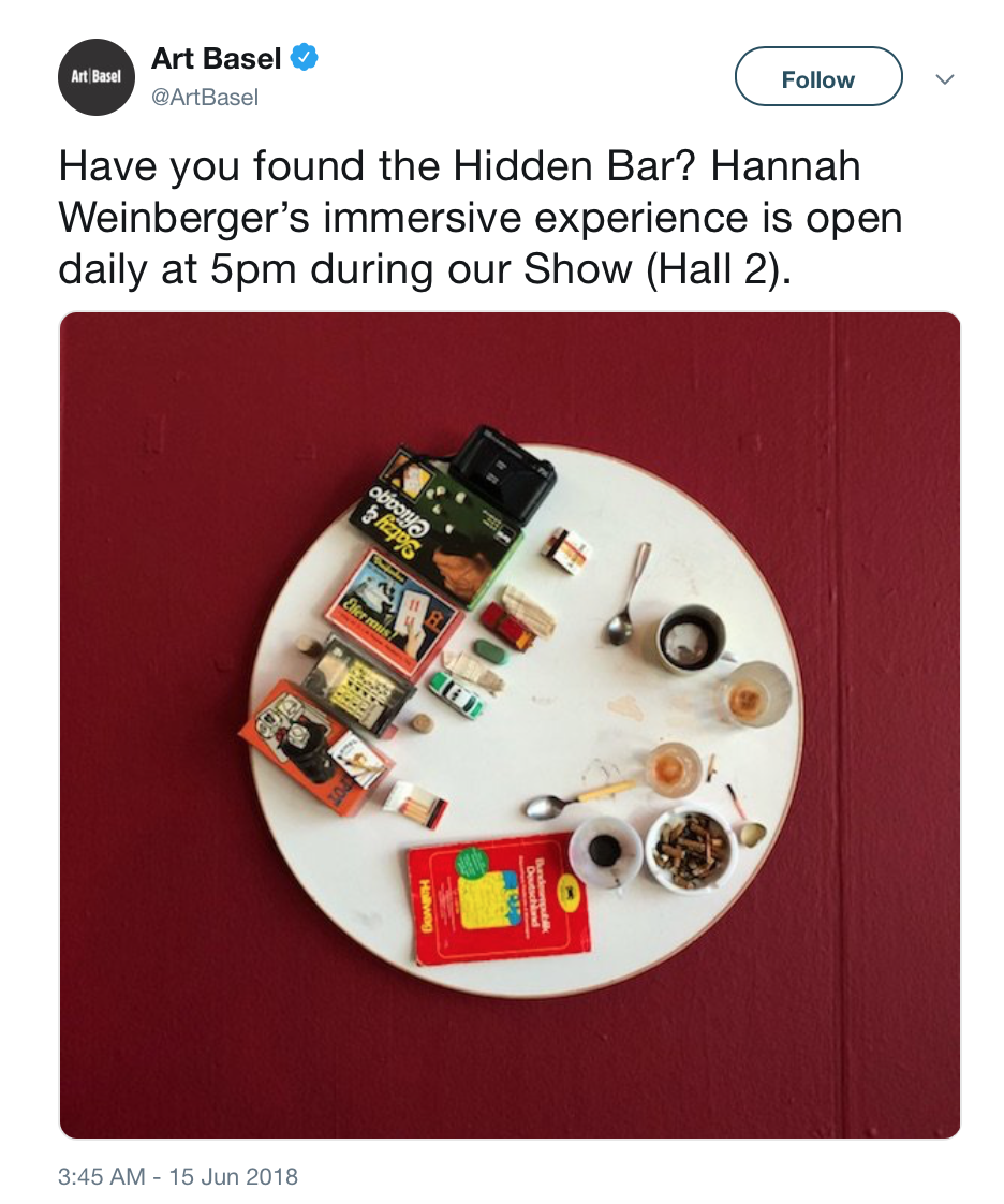 Hannah Weinberger's Hidden Bar