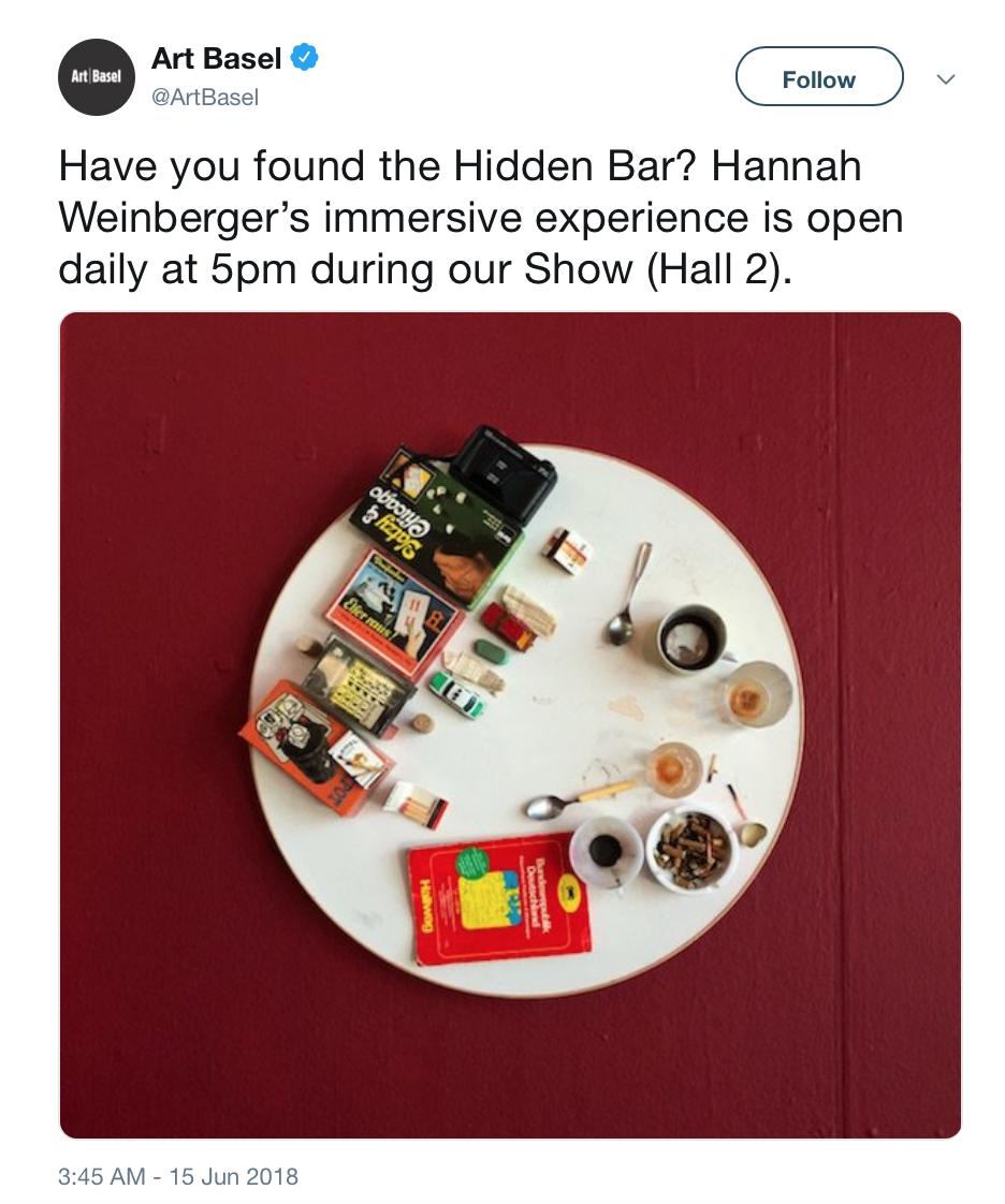 Hannah Weinberger's Hidden Bar