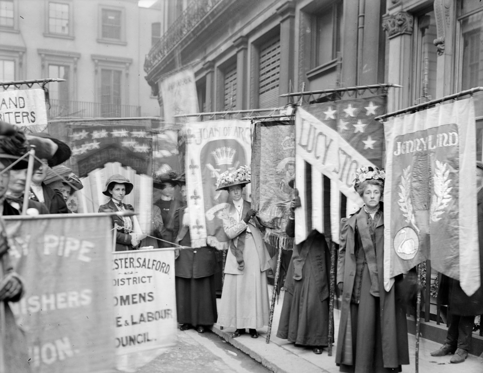 Photo of Suffragettes by Christina Broom