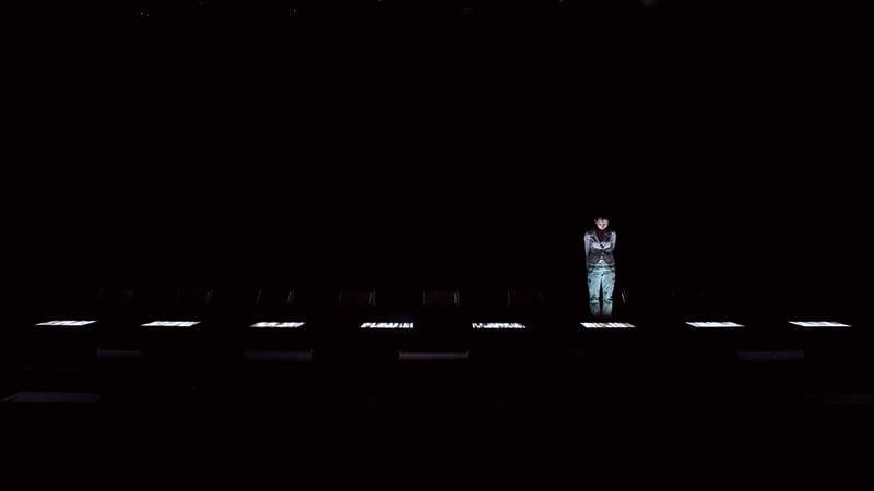 Рёдзи Икеда, аудиовизуальная инсталляция Test Pattern nº1, фото Kazuo Fukunaga, любезно предоставлено YCAM