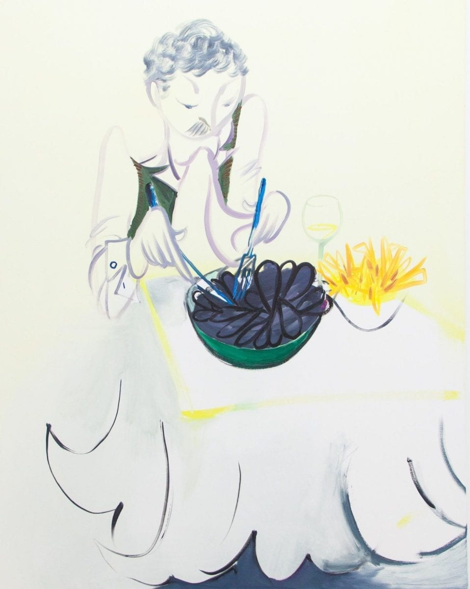 Maria Farrar, mussels, 2016. Courtesy Mother's Tankstation and Supplement Gallery