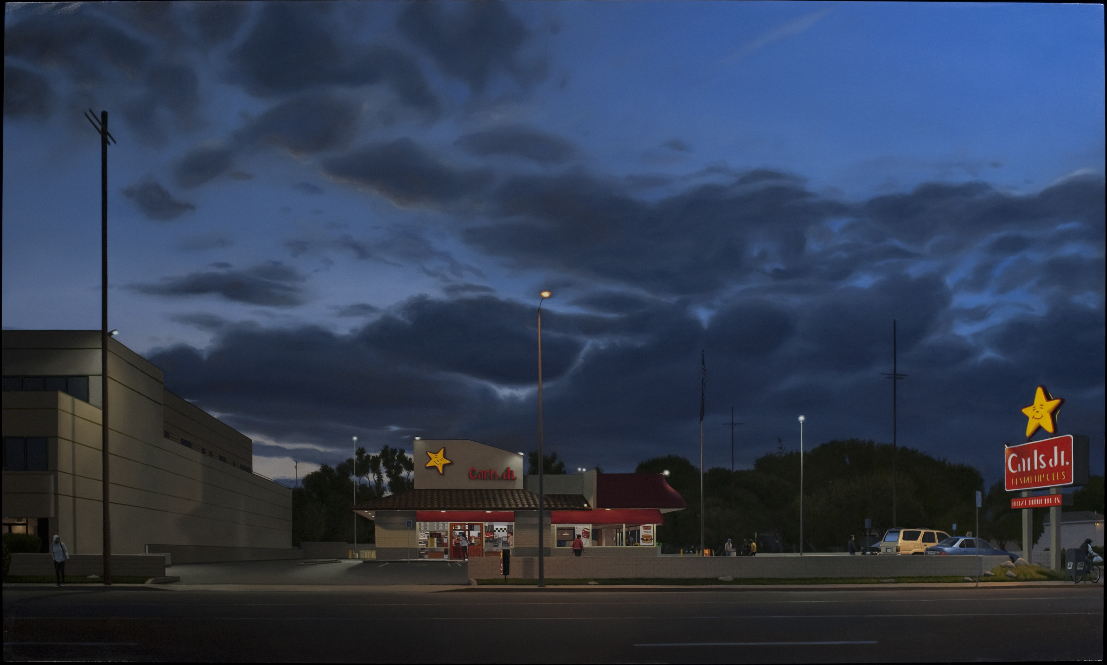 Marc Trujillo, 6457 Sepulveda Boulevard, 2011, oil on polyester. Courtesy of the artist