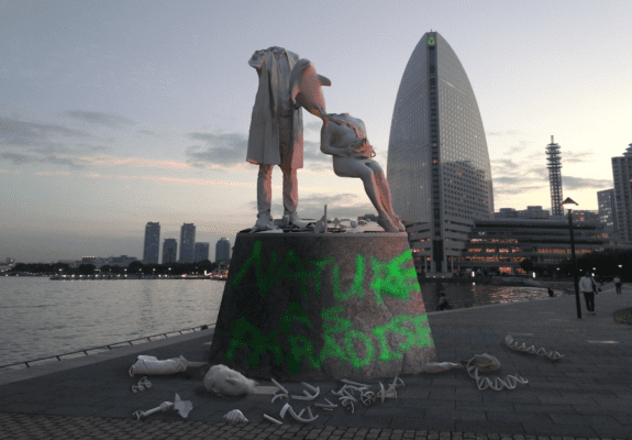 Ai Hasegawa, I Wanna Deliver A Dolphin (Vandalized Statue), 2013