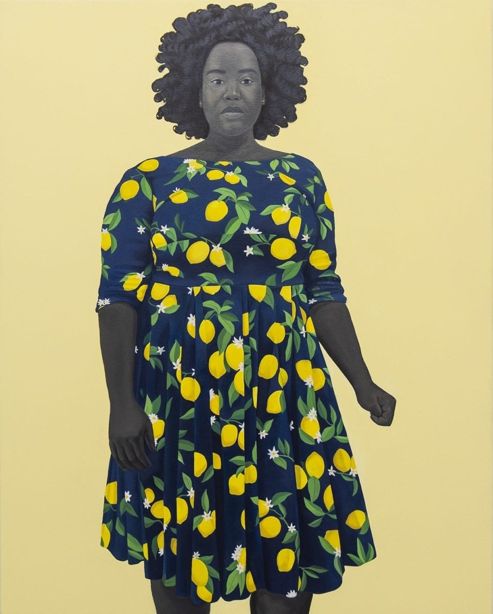 Amy Sherald, She always believed the good about those she loved, 2018. Courtesy of moniquemeloche