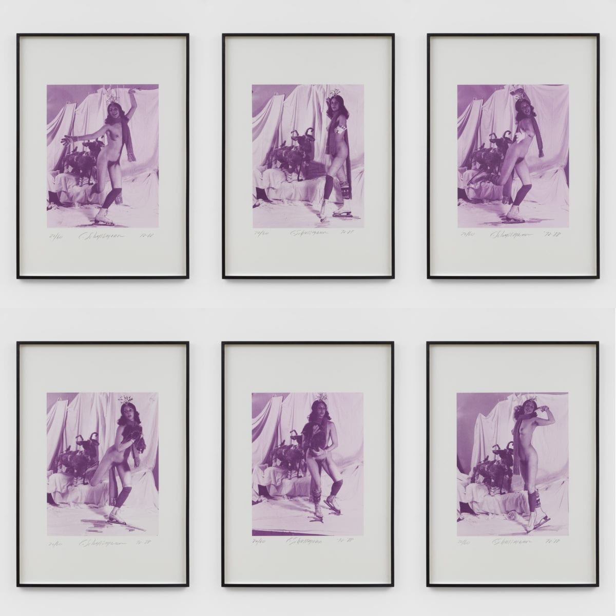 Carolee Schneemann, Ice Naked Skating, 1972/1988© The Artist; Courtesy Richard Saltoun Gallery, London