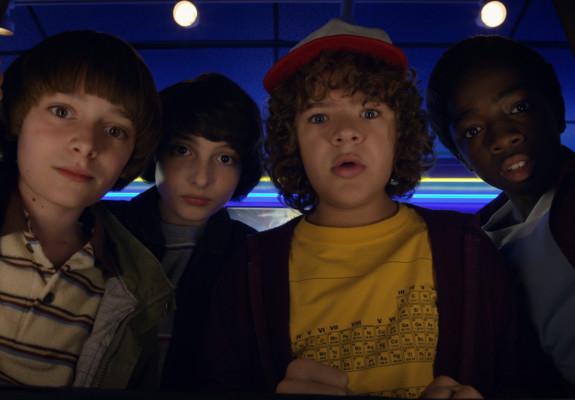 Stranger Things, Season Two. Now streaming on Netflix UK