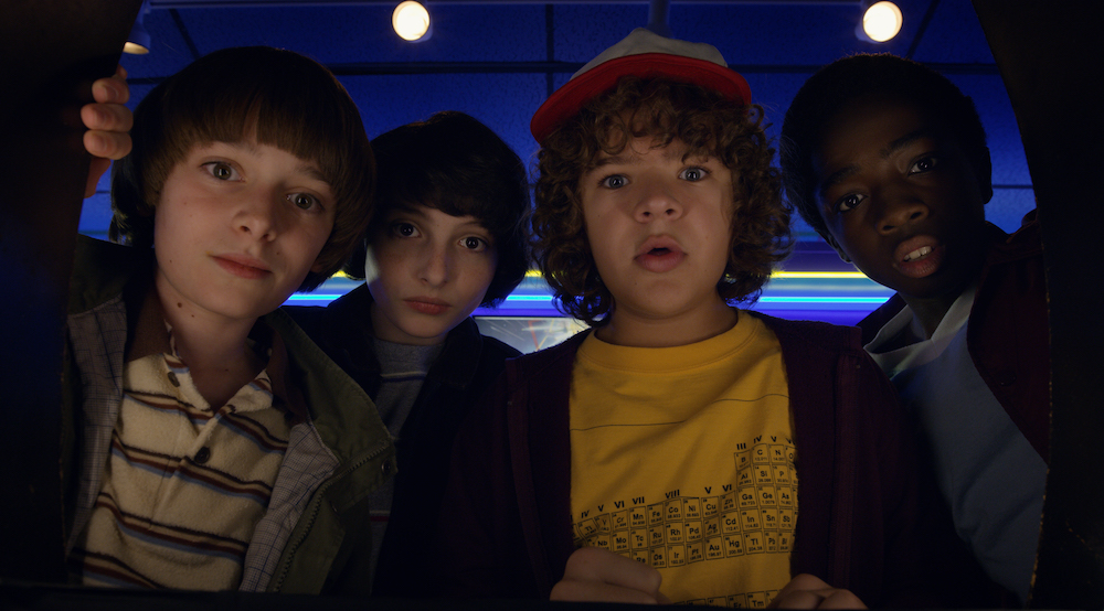 Stranger Things, Season Two. Now streaming on Netflix UK