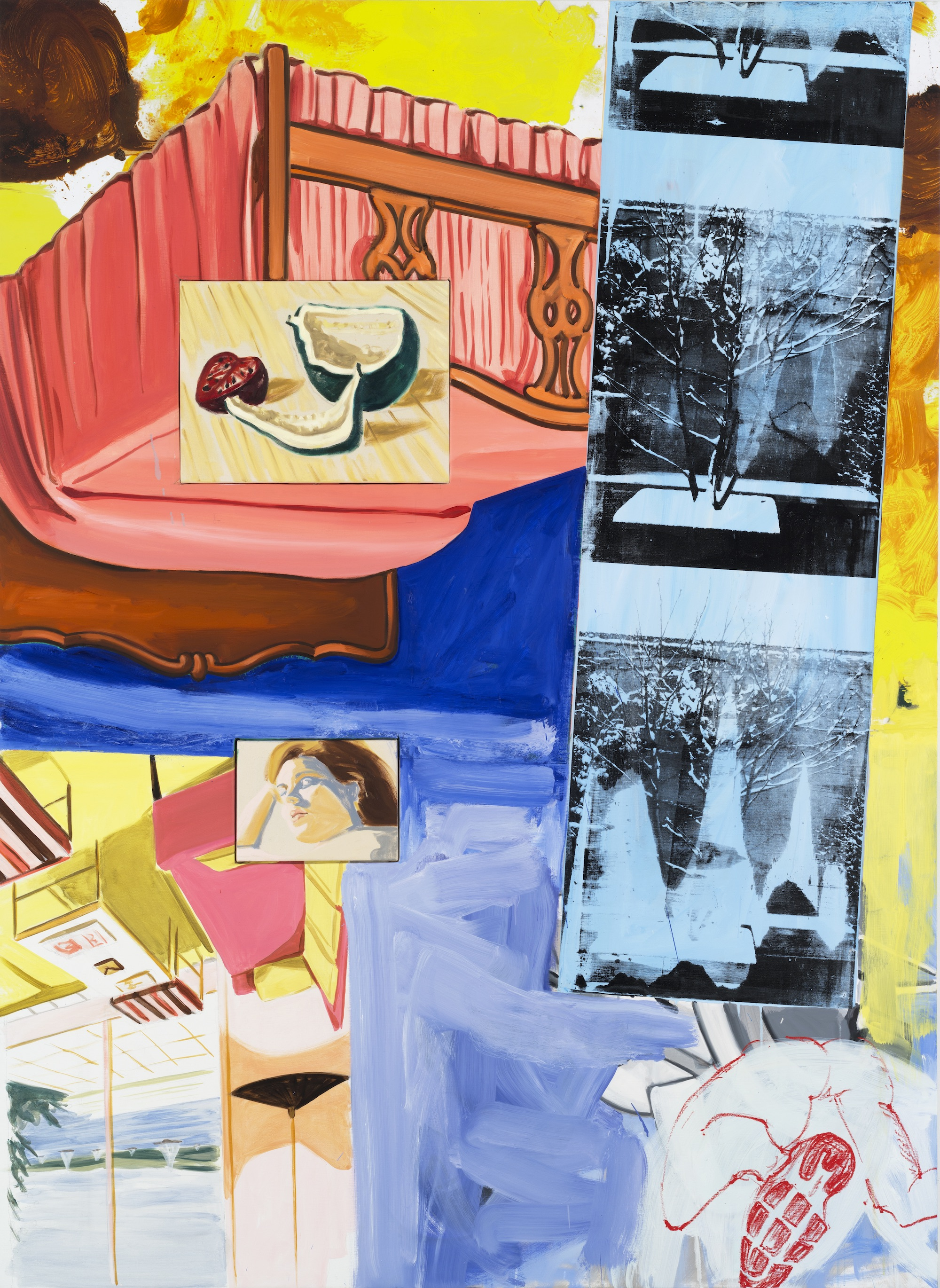 David Salle, Falling Into Bed, 2014.