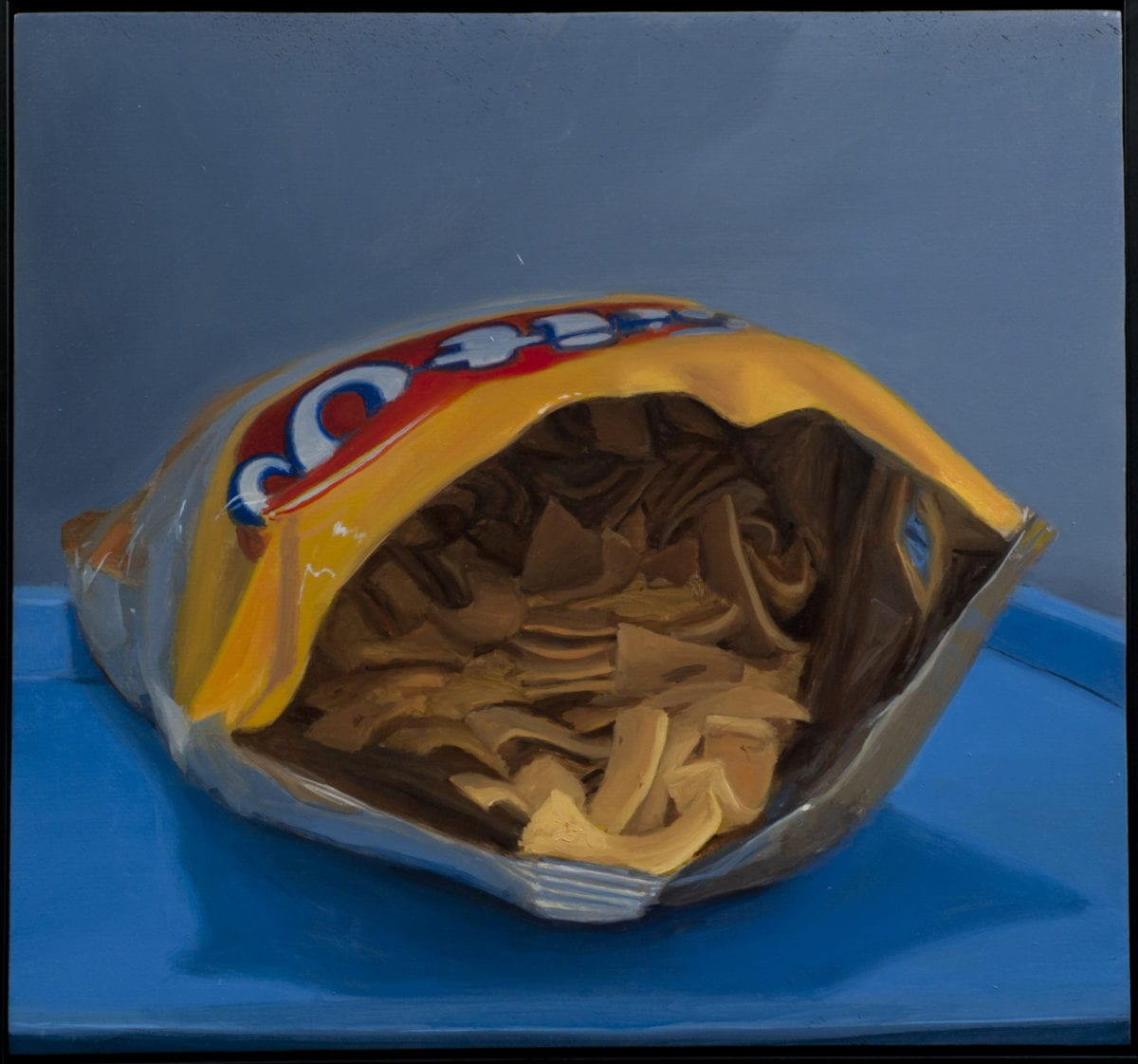 Fritos 10x10 inches oil on panel