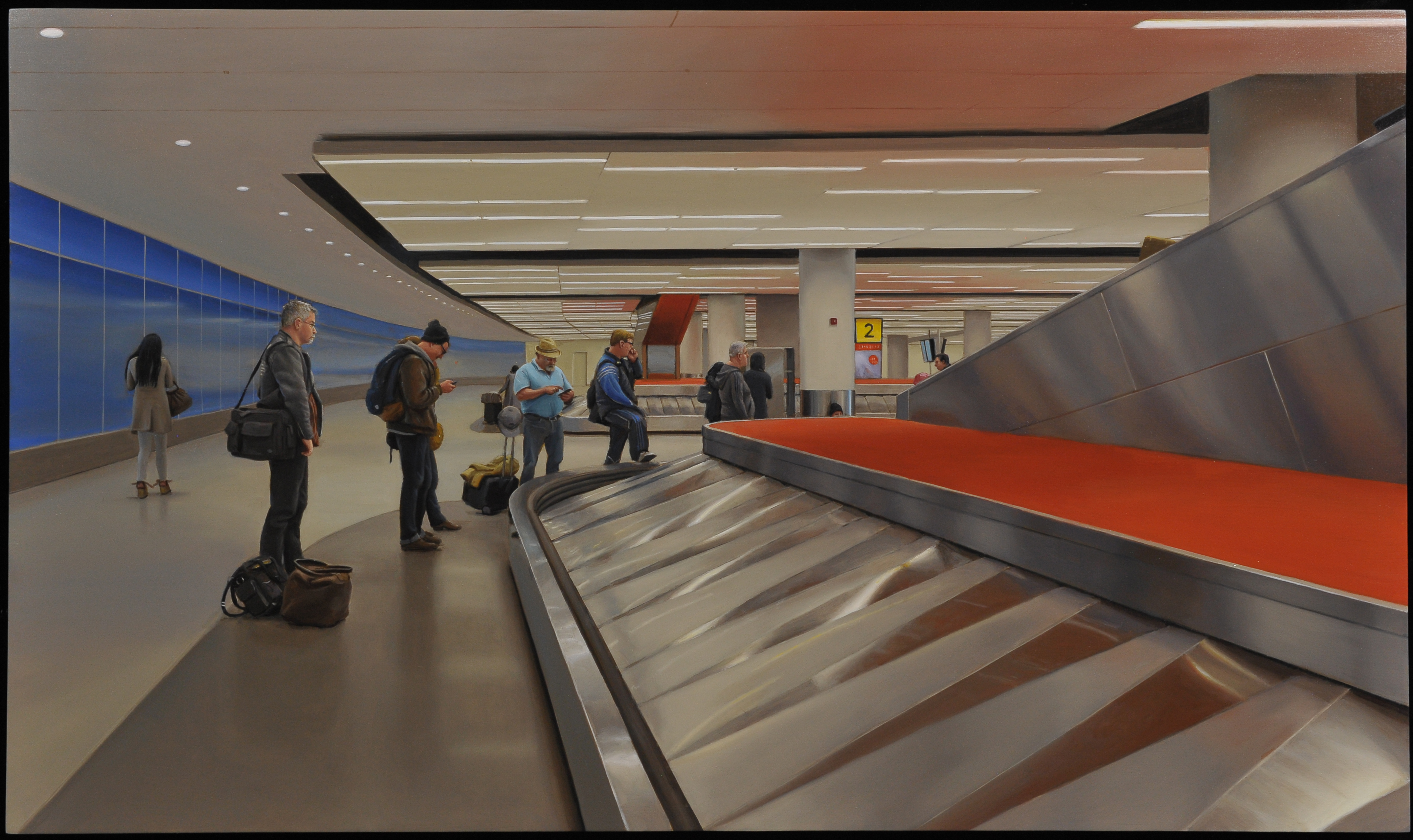 Marc Trujillo, John F Kennedy Internation Airport, 2015, oil on panel. Courtesy of the artist