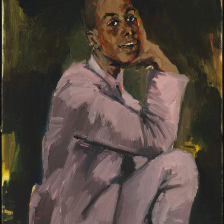 Lynette Yiadom-Boakye, Camelot I, 2019. Courtesy the artist, Corvi-Mora, London and Jack Shainman Gallery, New York