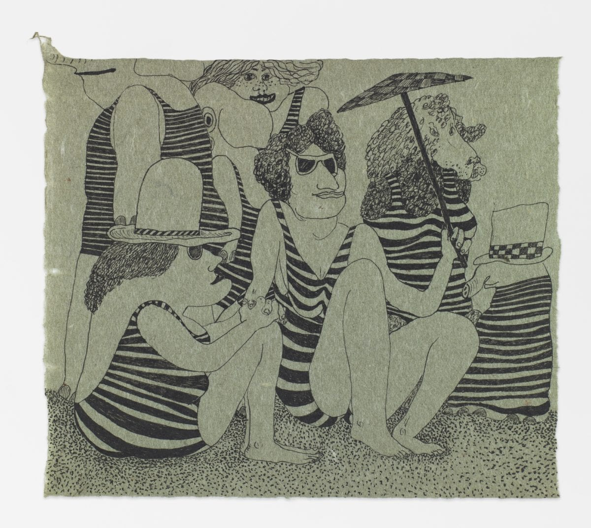 Gladys Nilsson, Rented Bathing Suits, 1965. Courtesy the artist and Garth Greenan Gallery, New York