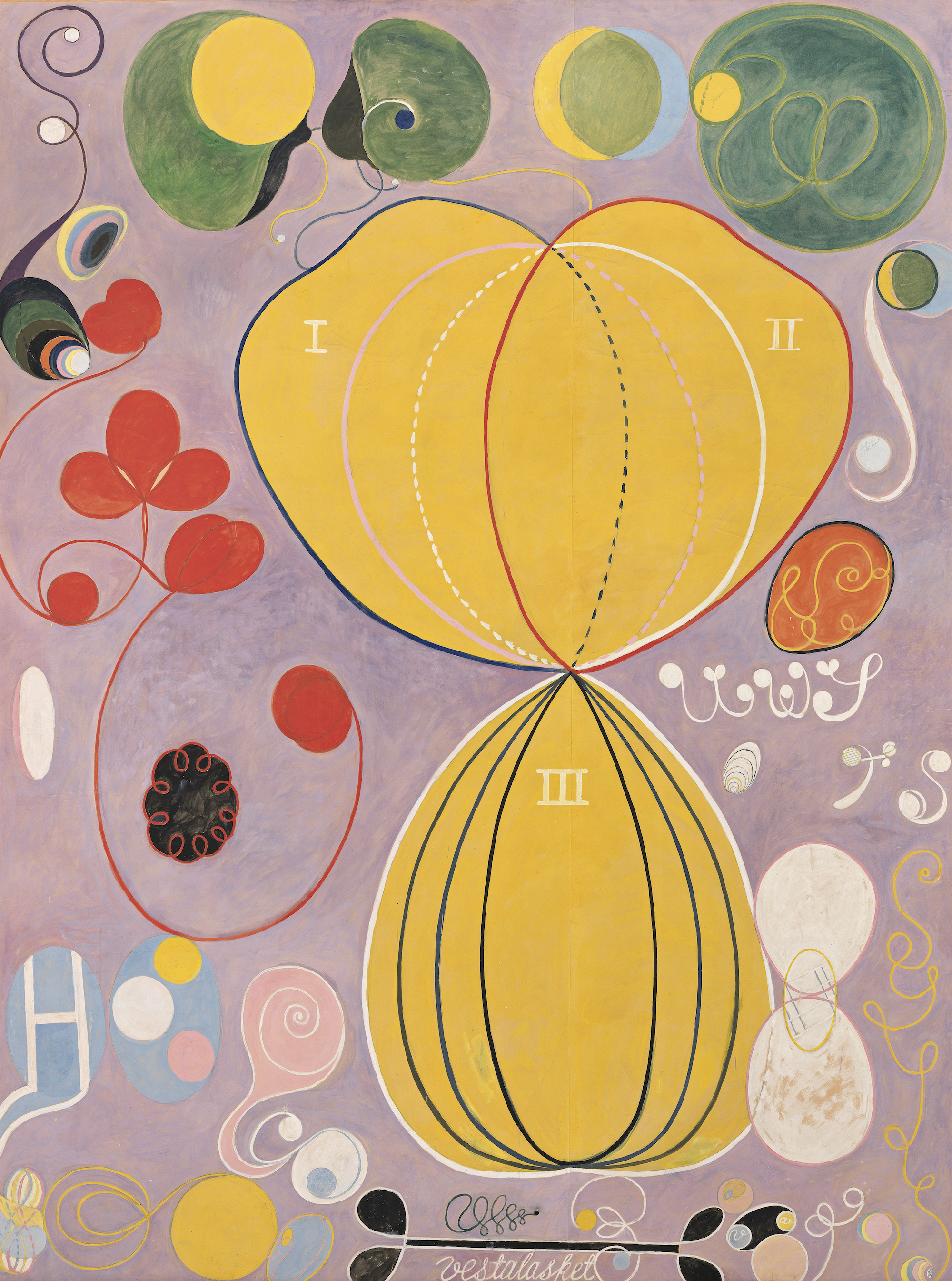 Hilma af Klint The Ten Largest, No. 7., Adulthood, Group IV, 1907. Courtesy The Hilma af Klint Foundation, Stockholm