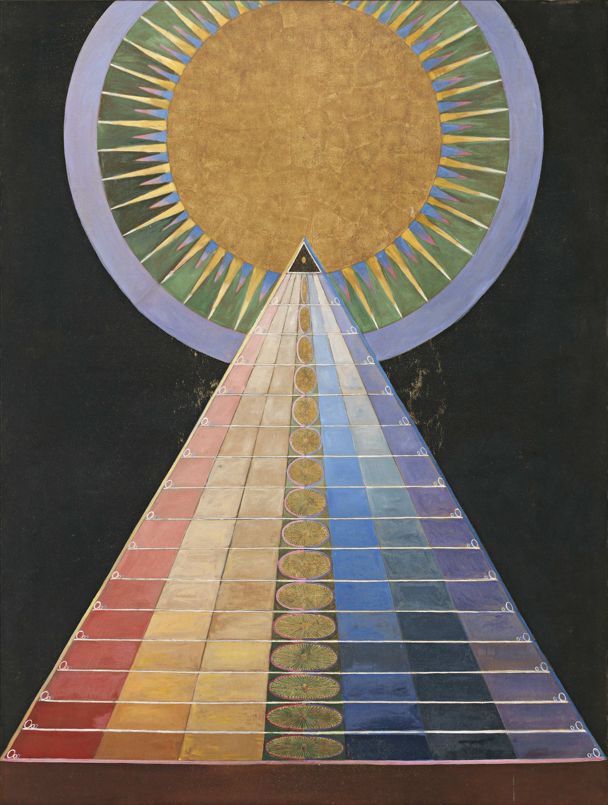 Hilma af Klint Group X, No. 1, Altarpiece (Grupp X, nr 1, Altarbild), 1915 from Altarpieces (Altarbilder). Courtesy The Hilma af Klint Foundation, Stockholm