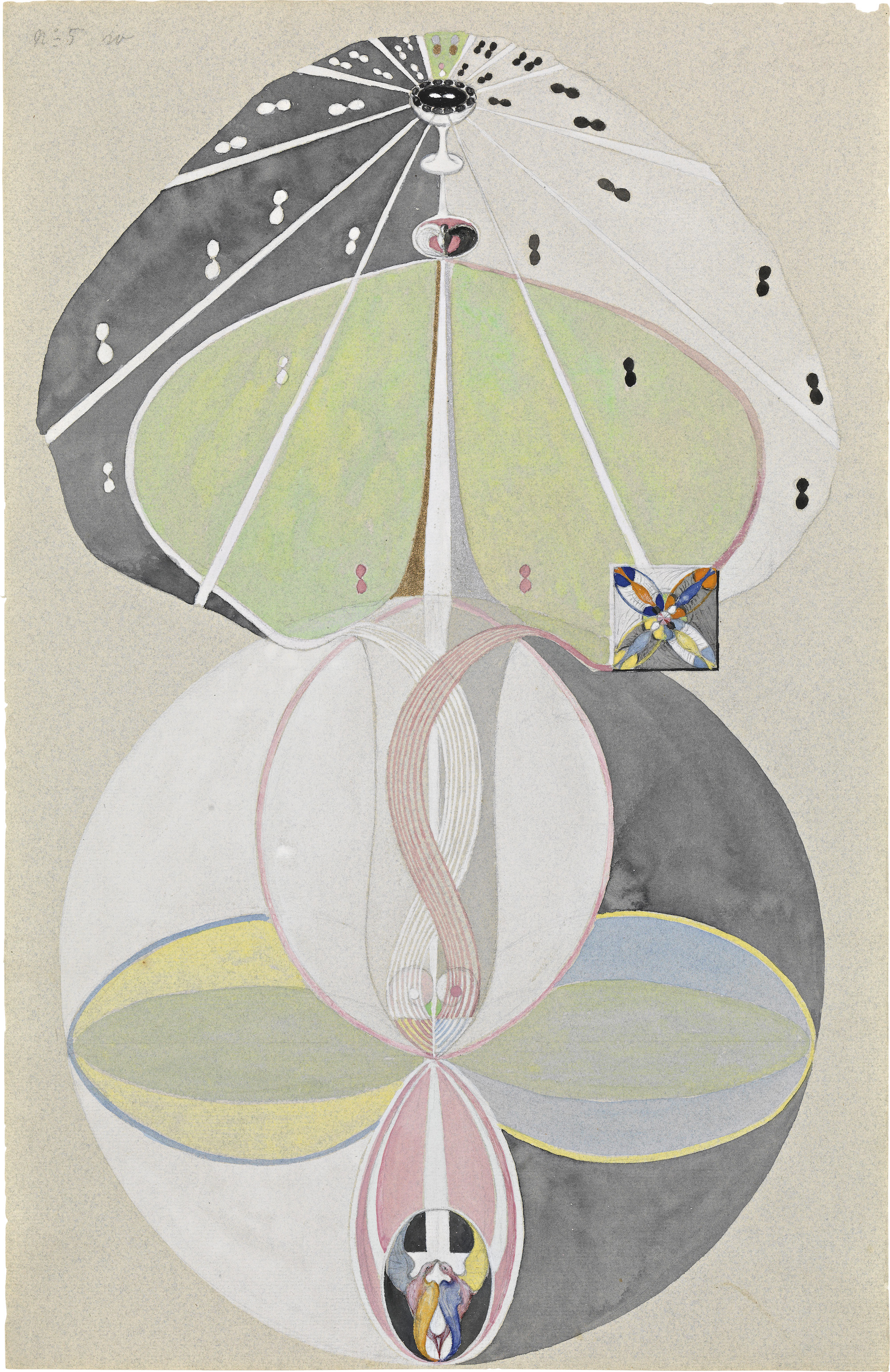 Hilma af Klint Tree of Knowledge, No. 5 (Kunskapens träd, nr 5), 1915. Courtesy The Hilma af Klint Foundation, Stockholm
