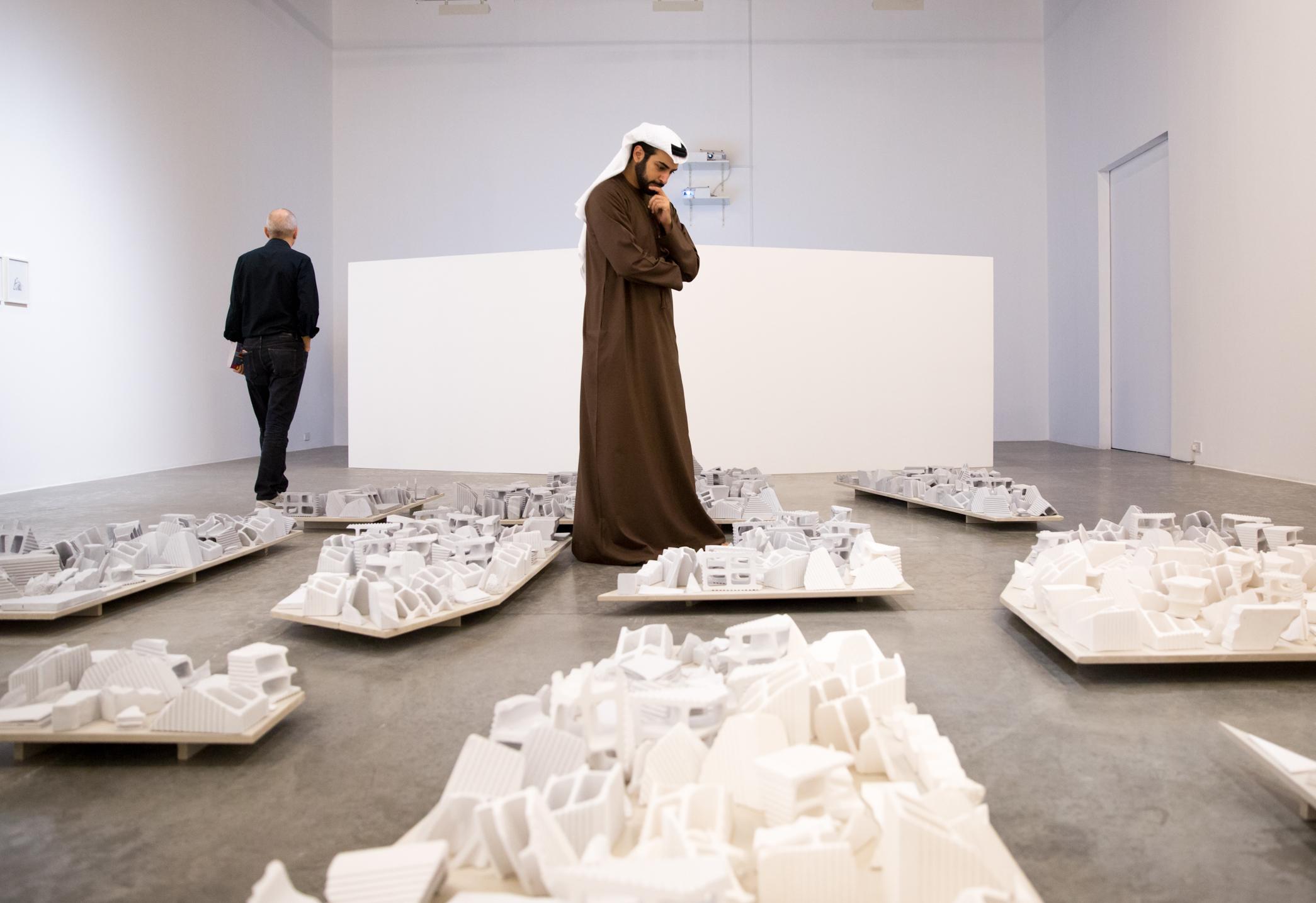 Installation view at Alserkal Avenue during Dubai Art Week