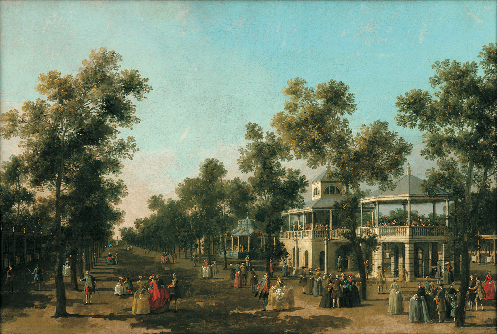 Canaletto, The Grand Walk Vauxhall Gardens, 1751