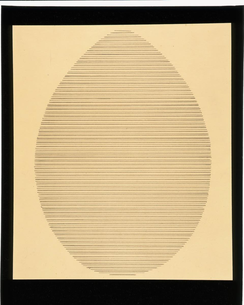 Agnes Martin, The Egg, 1963. Courtesy of Elkon Gallery, New Yor