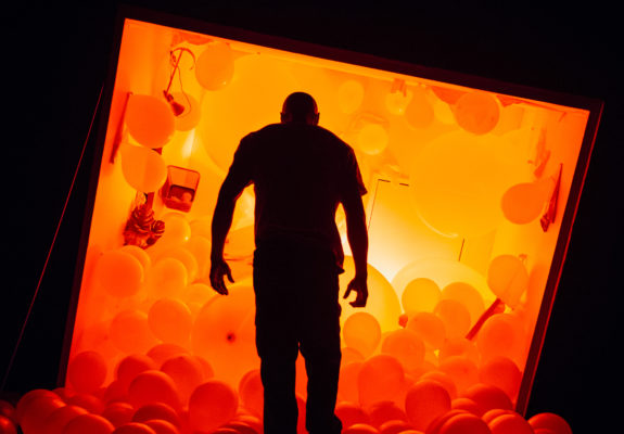 Arinze Kene in Misty by Arinze Kene at the Bush Theatre. Photography by Helen Murray