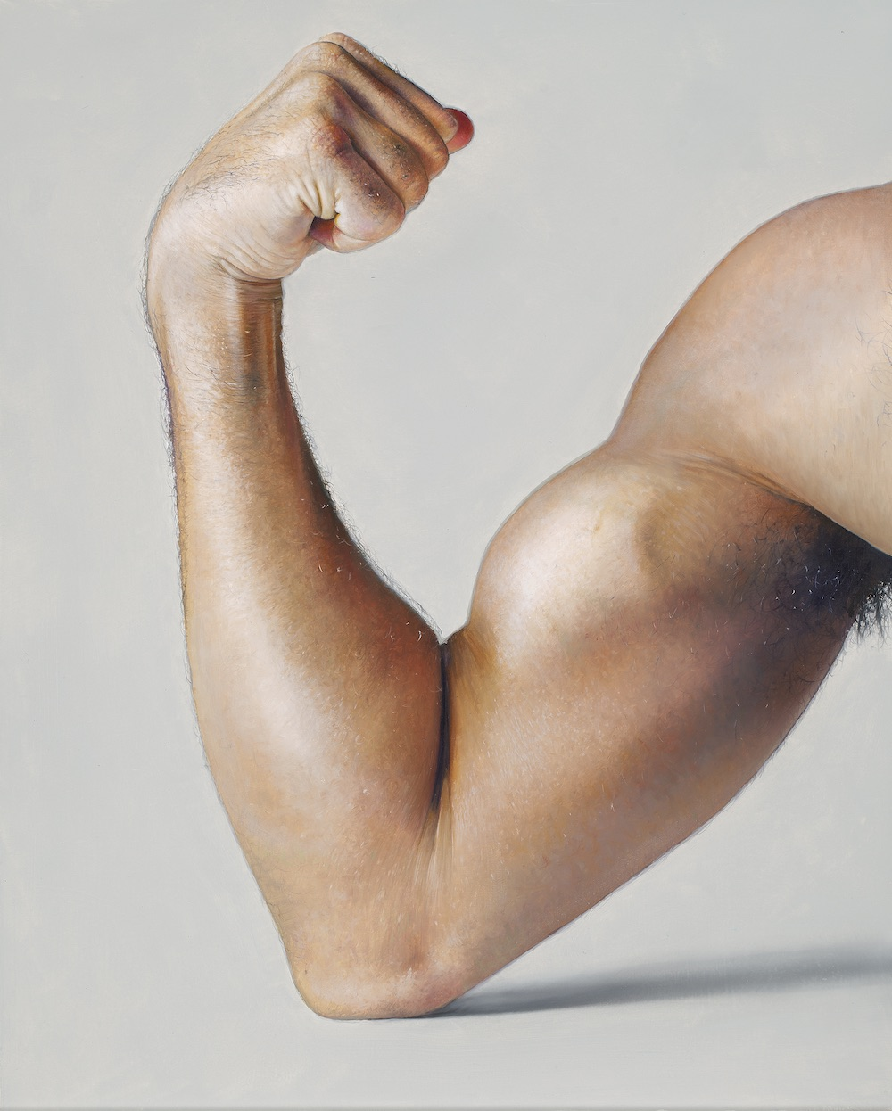 Michel Zavros, The Artist Flexes His Muscles, 2015. Private collection, courtesy the artist and Starkwhite, Auckland