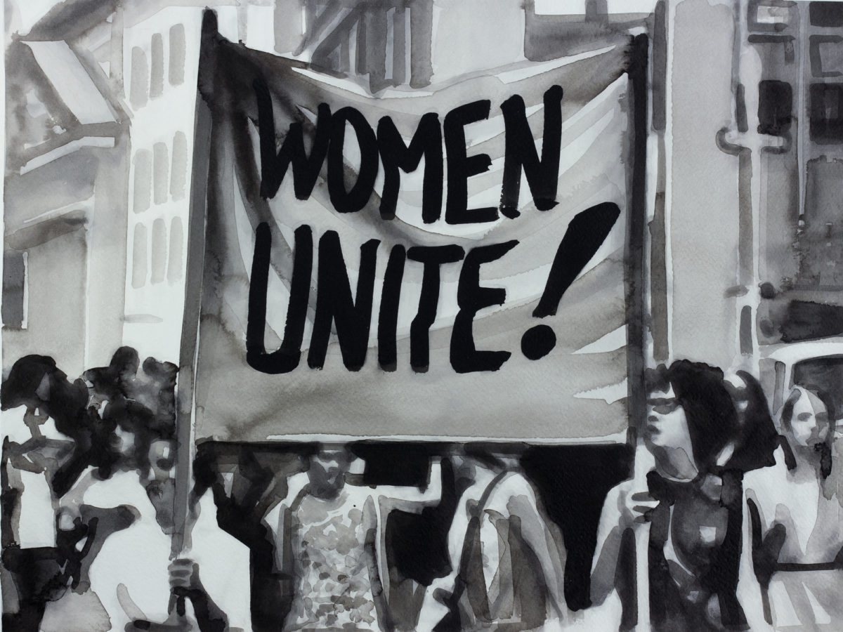 Radenko Milak, 26 August 1970 - The then new feminist movement, led by Betty Friedan, leads a nationwide Women's Strike for Equality in the USA, 2013. Courtesy Christine König Galerie