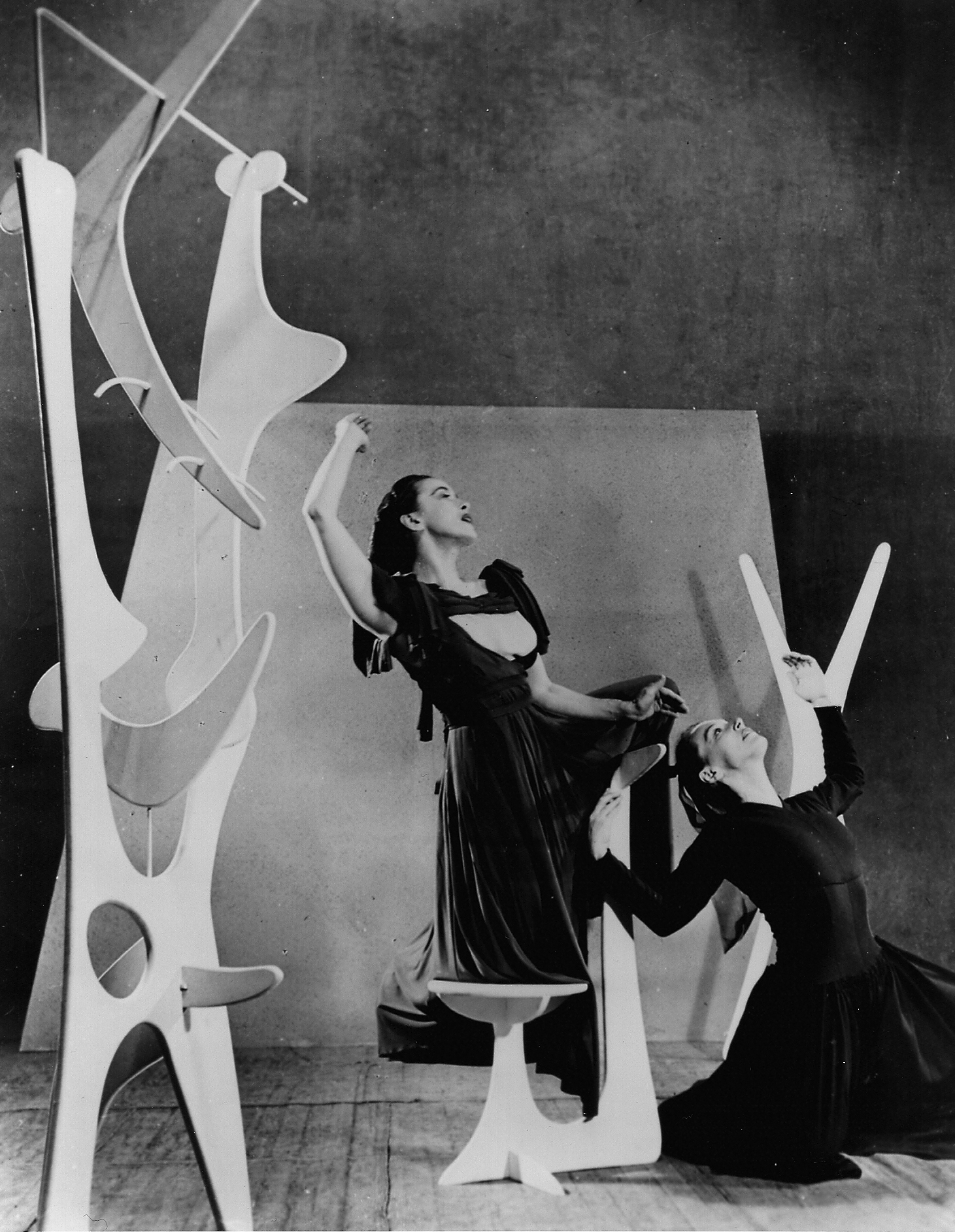 Martha Graham and May O'Donnell in Herodiade. Choreography by Martha Graham. Scenery by Isamu Noguchi. Photograph by Arnold Eagle. Courtesy of Martha Graham Resources