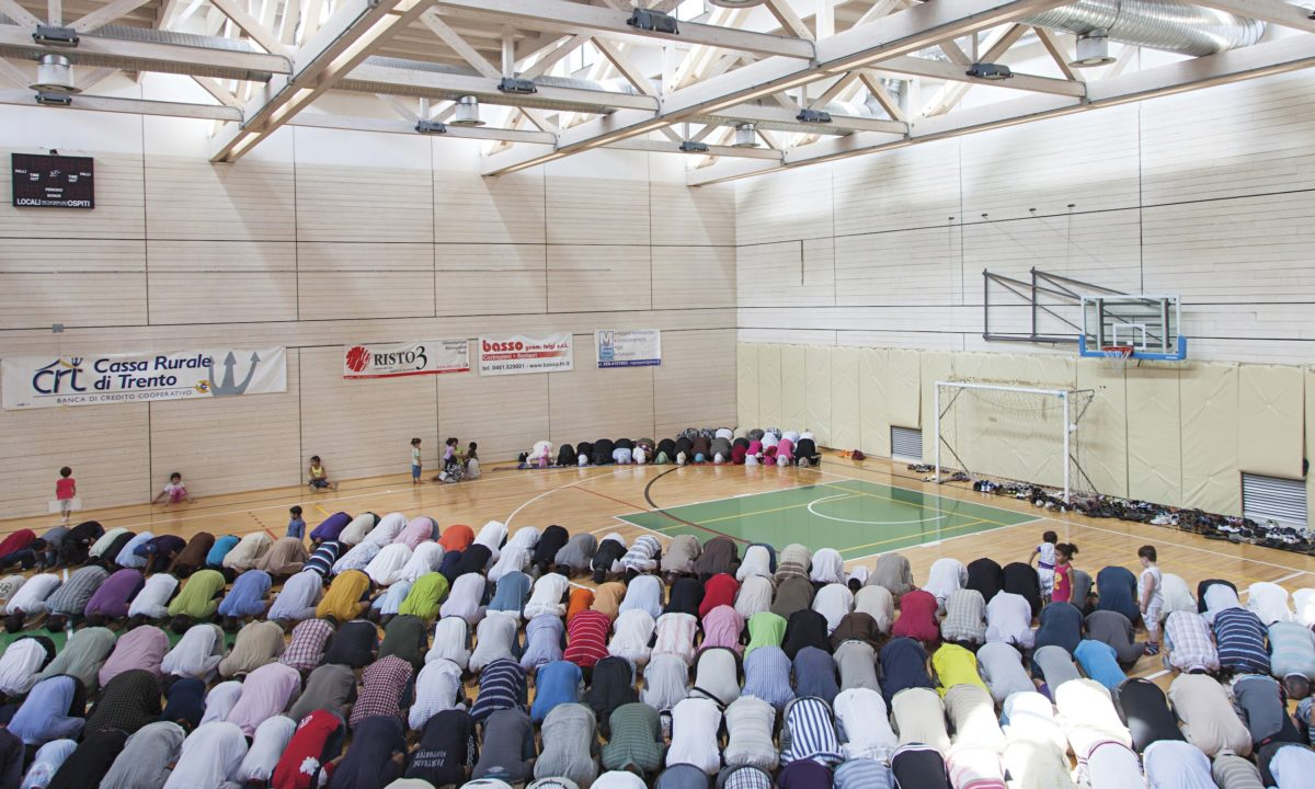 Hidden Islam sports stadium Trento Muslim worship rencontres d'arles prize