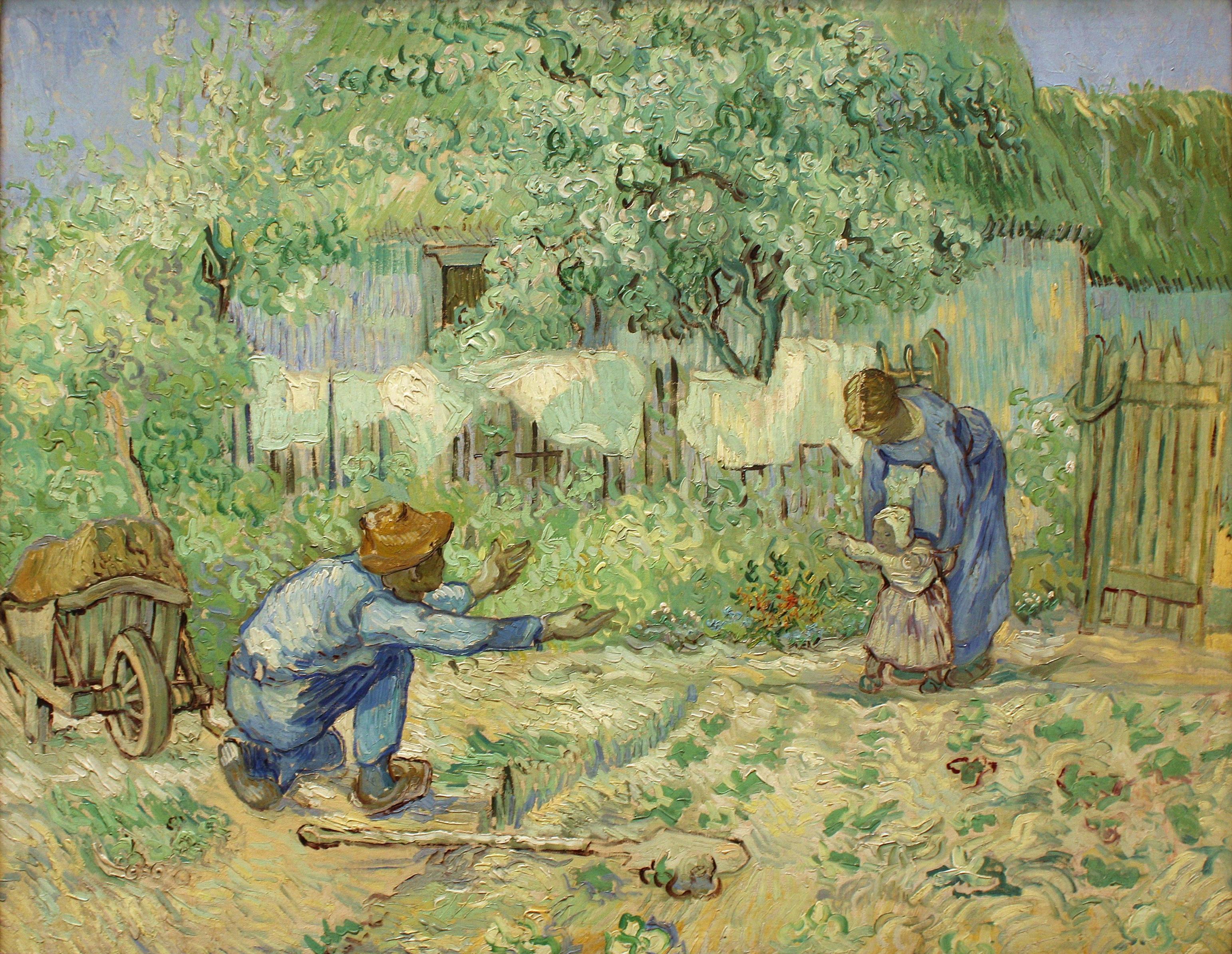 Vincent Van Gogh, First Steps, after Millet, 1890