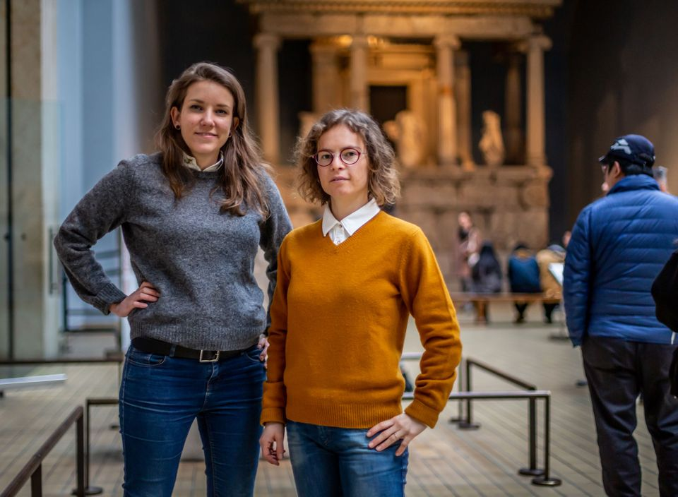 The co-founders of the online exhibitions matchmaking firm Vastari, chief executive Bernardine Bröcker Wieder (left) and chief operating officer Francesca Polo