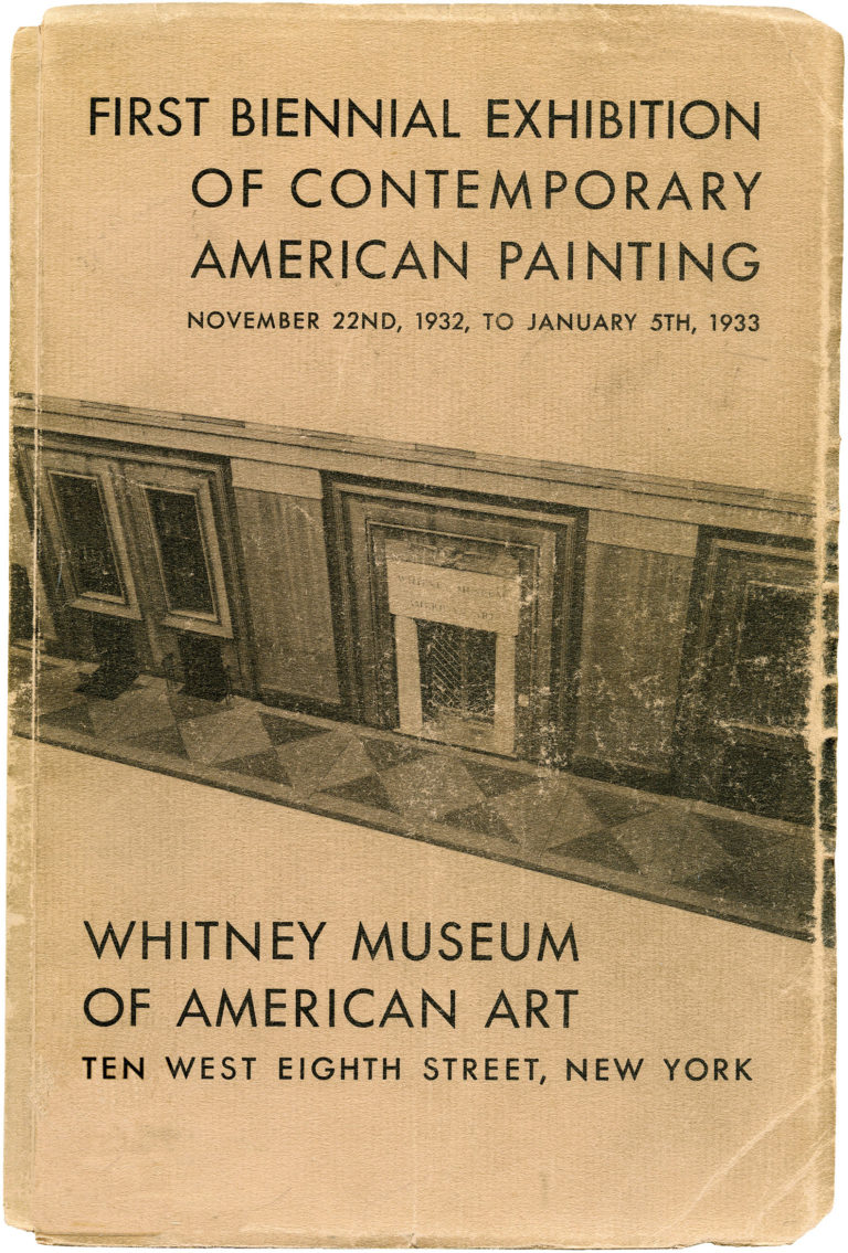 The catalogue for the first Whitney Biennial, courtesy the Whitney Museum.