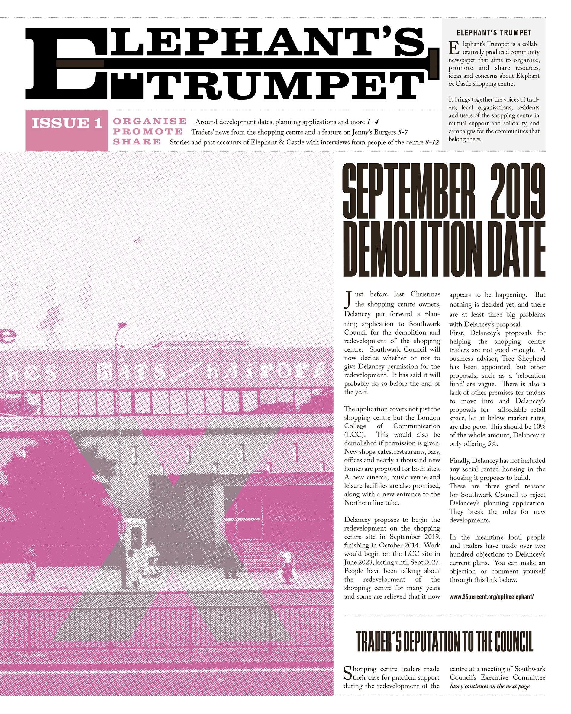 Elephant's Trumpet Front Page Issue 1, from the series Elephant Castle, 2018 © Eva Sajovic
