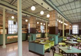Bar Luce, designed by Wes Anderson Fondazione Prada Milano 2015. Photo by Attilio Maranzano. Courtesy Fondazione Prada