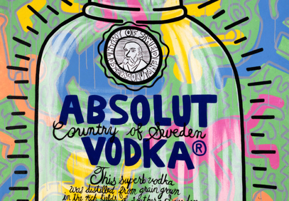 Keith Haring, Absolut (Pink & Blue), 1986. © Keith Haring Foundation