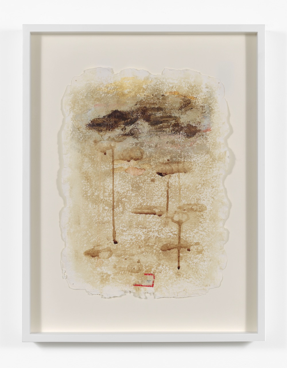 Harmony Hammond, Blood Journals (Giorno 1 – X) , 1994. Menstrual blood, watercolour, charcoal, ink, stickers on paper (10 pages). Each 38.10 x 27.94 cm. Courtesy of the artist and Alexander Gray Associates, New York Photo_ Jeffrey Sturges