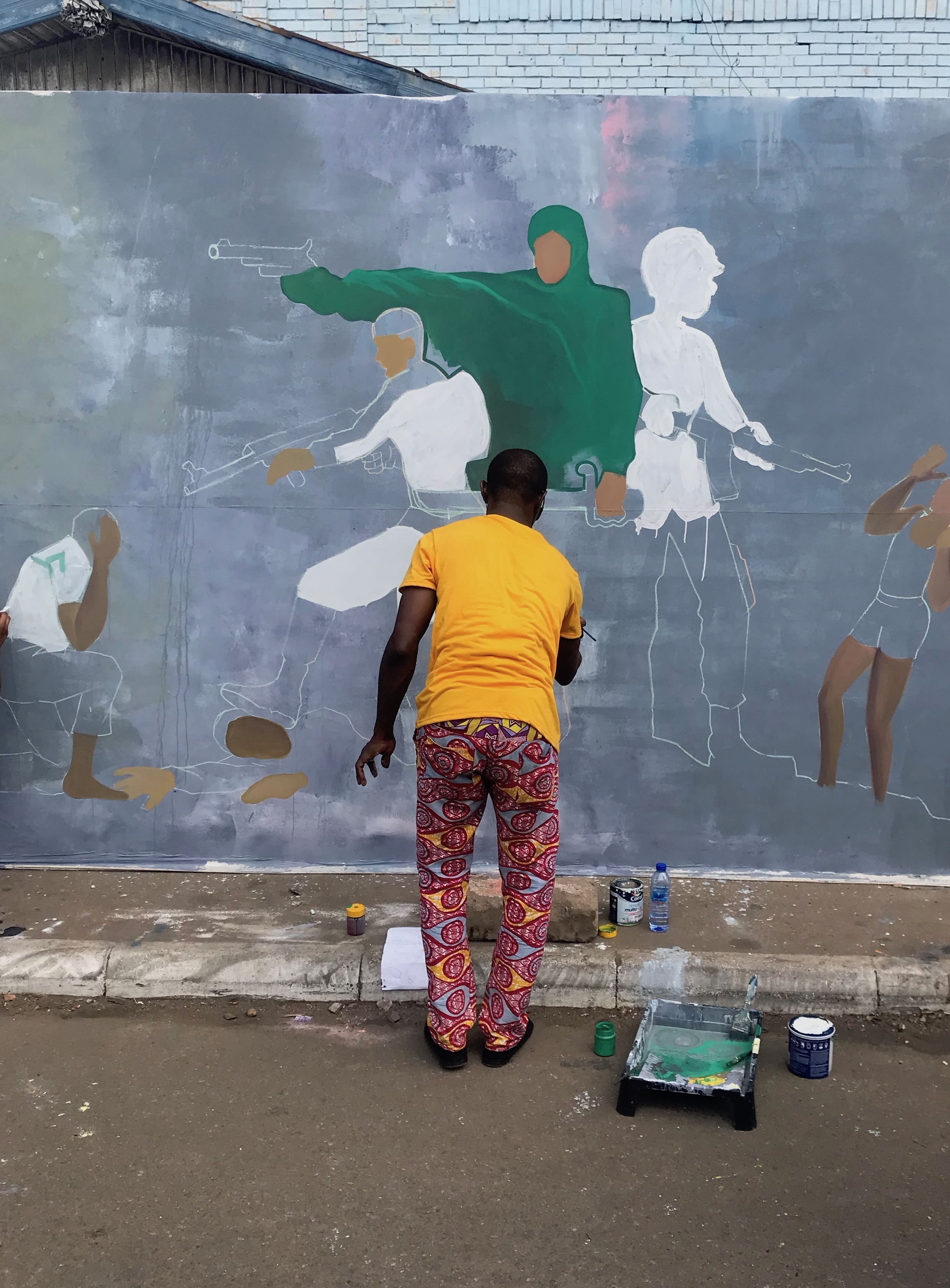Mural painting at Chale Wote 2018. Photo © Holly Black